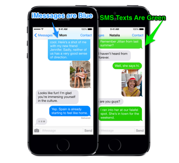 iPhone 5C Text messaging: